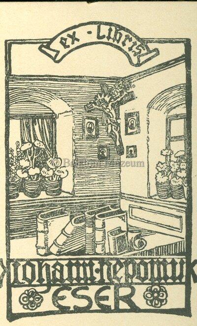 Ex libris Johann Nepomuk Eser