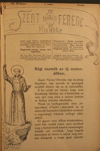 Szent Ferenc Hírnöke 1909. január