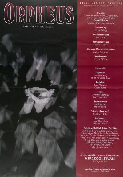 Orpheus bemutató plakát