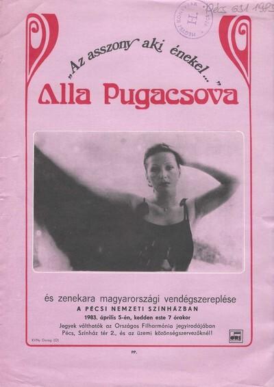 Az asszony aki énekel... Alla Pugacsova fellépése röplap