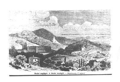Budai Zugliget: a Fácán vendéglő- rajz, Budapest, 1866
