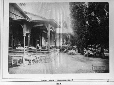Margitsziget Felsővendéglő, Budapest, 1875 körül