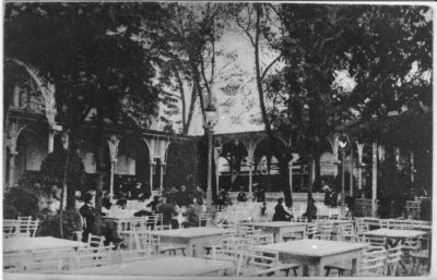 Margitsziget Felső vendéglő, Budapest, 1914