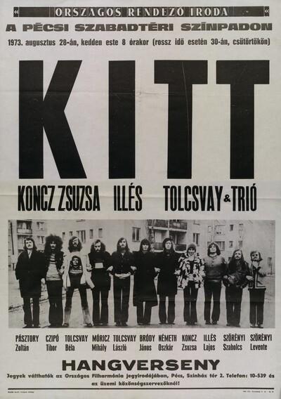 KITT hangverseny plakát