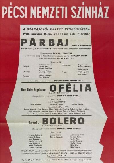 Szarajevói Balett vendégjátéka Pécsett