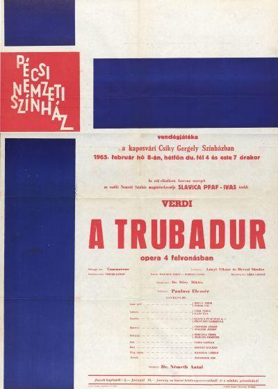 A trubadúr vendégjáték plakát