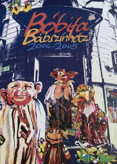 Bóbita Bábszínház műsornaptára 2004/2005-ös évadra