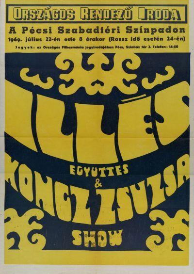 Illés együttes & Koncz Zsuzsa show bemutató plakát