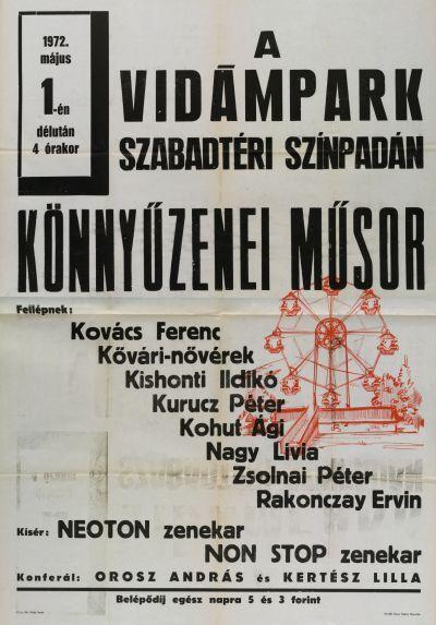 Könnyűzenei műsor bemutató plakát