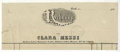 Messi Klára szalonjának számlafejléce, 1840-es évek