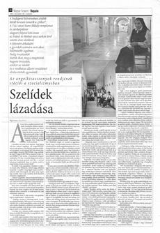 Szelídek lázadása - a Magyar Nemzet újságcikke