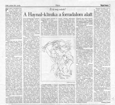 A Haynal-klinika a forradalom alatt - újságcikk