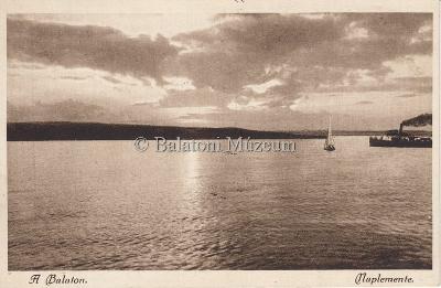 A Balaton, Naplemente