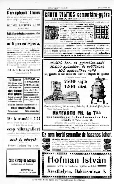 Keszthelyi Hírlap 1910.06.12.