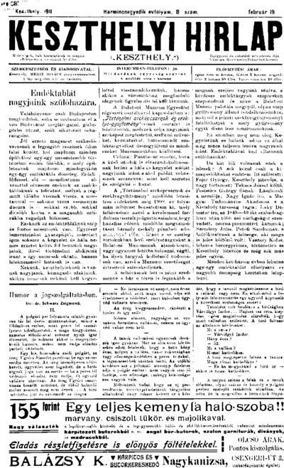 Keszthelyi Hírlap 1911.02.19.