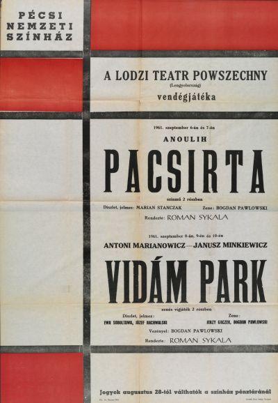 Pacsirta és Vidám park bemutató plakát