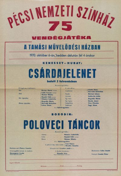 Pécsi Nemzeti Színház tamási vendégjátéka