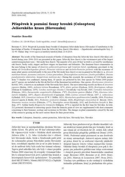 Příspěvek k poznání fauny brouků (Coleoptera) Jelšavského krasu (Slovensko)