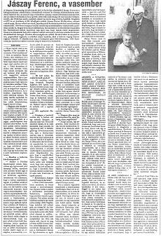 Jászay Ferenc, a vasember - újságcikk