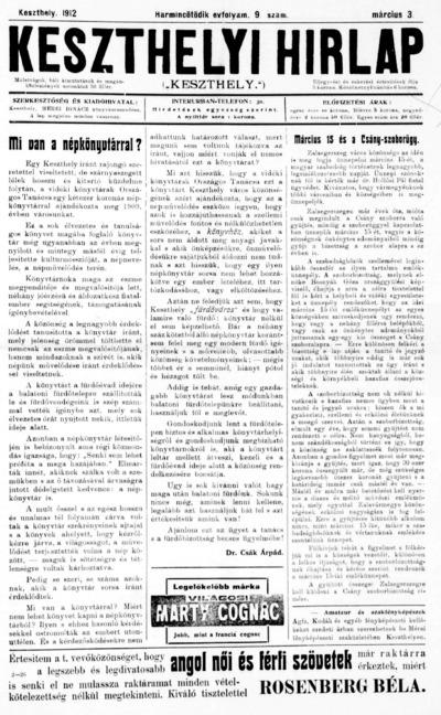 Keszthelyi Hírlap 1912.03.03.