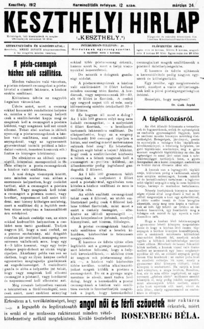 Keszthelyi Hírlap 1912.03.24.