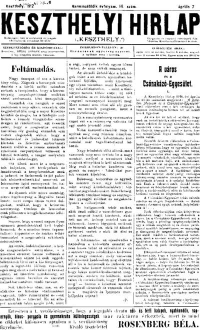 Keszthelyi Hírlap 1912.04.07.