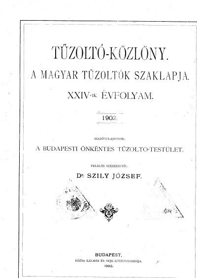 Tűzoltó-Közlöny 1902.