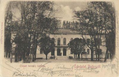 Olvasó terem és kávéház - képeslap, Palics, 1900