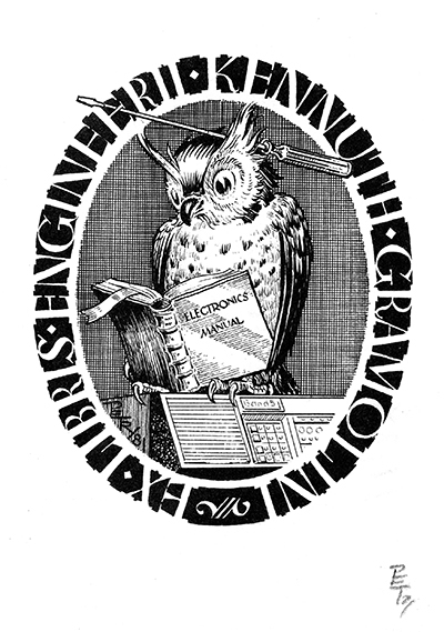 Ex libris Engineer Kennuth Gramolini