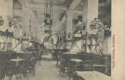 Városi Kávéház - képeslap, Szabadka, 1913