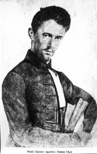 Petőfi Sándor portréja, dagerrotípia másolat