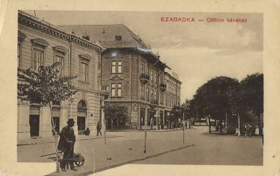 Otthon Kávéház - képeslap, Szabadka, 1910