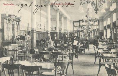 Pest Kávéház - képeslap, Szabadka, 1908