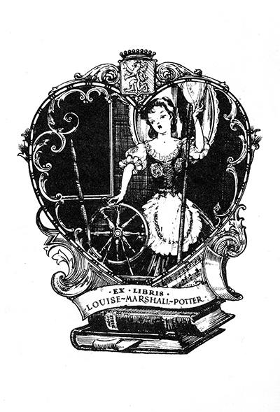 Ex libris Louise Marshall Potter