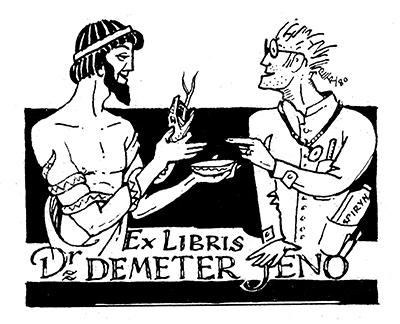 Ex libris dr. Demeter Jenő