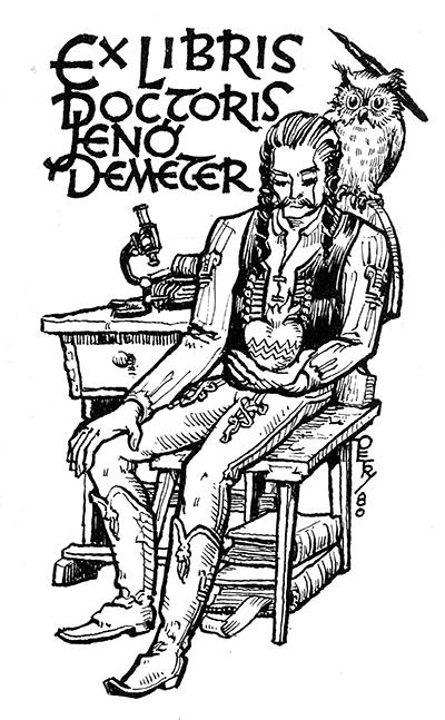 Ex libris dr. Jenő Demeter