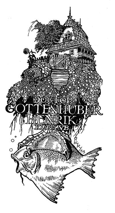 Ex libris dr. Gottenhuber Henrik