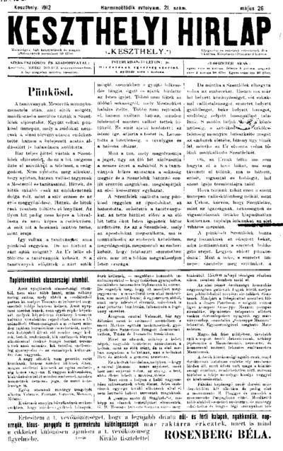 Keszthelyi Hírlap 1912.05.26.