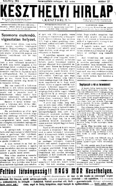 Keszthelyi Hírlap 1912.10.27.