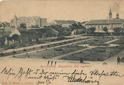 Korzó Kávéház - képeslap, Zombor, 1900