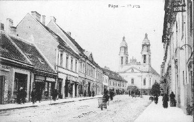 Képeslap, Pápa, Fő utca