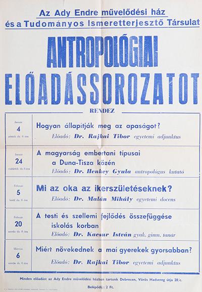 Antropológiai előadássorozat