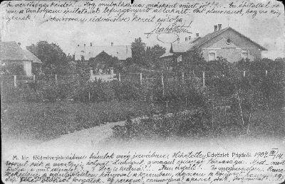 Képeslap, Pápa, Magyar királyi földmívesiskola