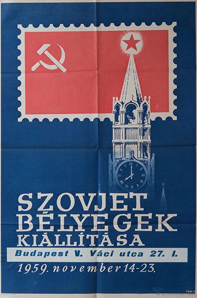 Szovjet bélyegek kiállítása