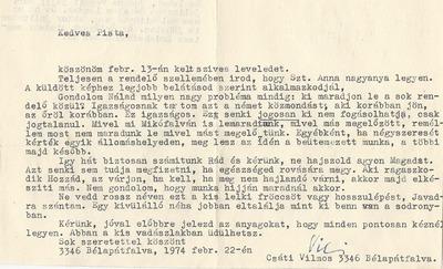 Takács István bélapátfalvi levelezése 4
