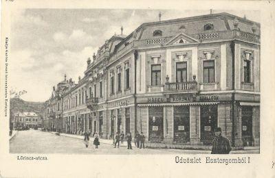 b2dafcfecd Korona Szálloda - képeslap, Esztergom, 1922