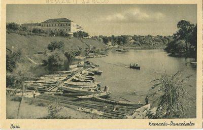 Nemzeti Szálloda - képeslap, Baja, 1940
