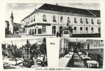 Központi Szálloda, Baja, 1942
