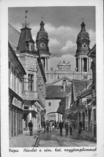 Képeslap, Pápa, Kossuth utca