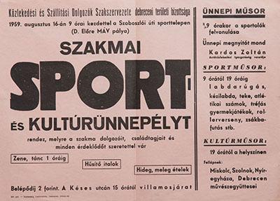 Szakmai sport- és kultúrünnepély